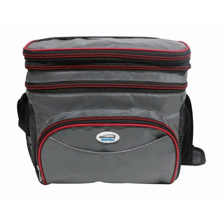 Cooler Bag 12 Can w/ Hard Plastic Ice Bucket-RED](Plastic Ice Tubs)