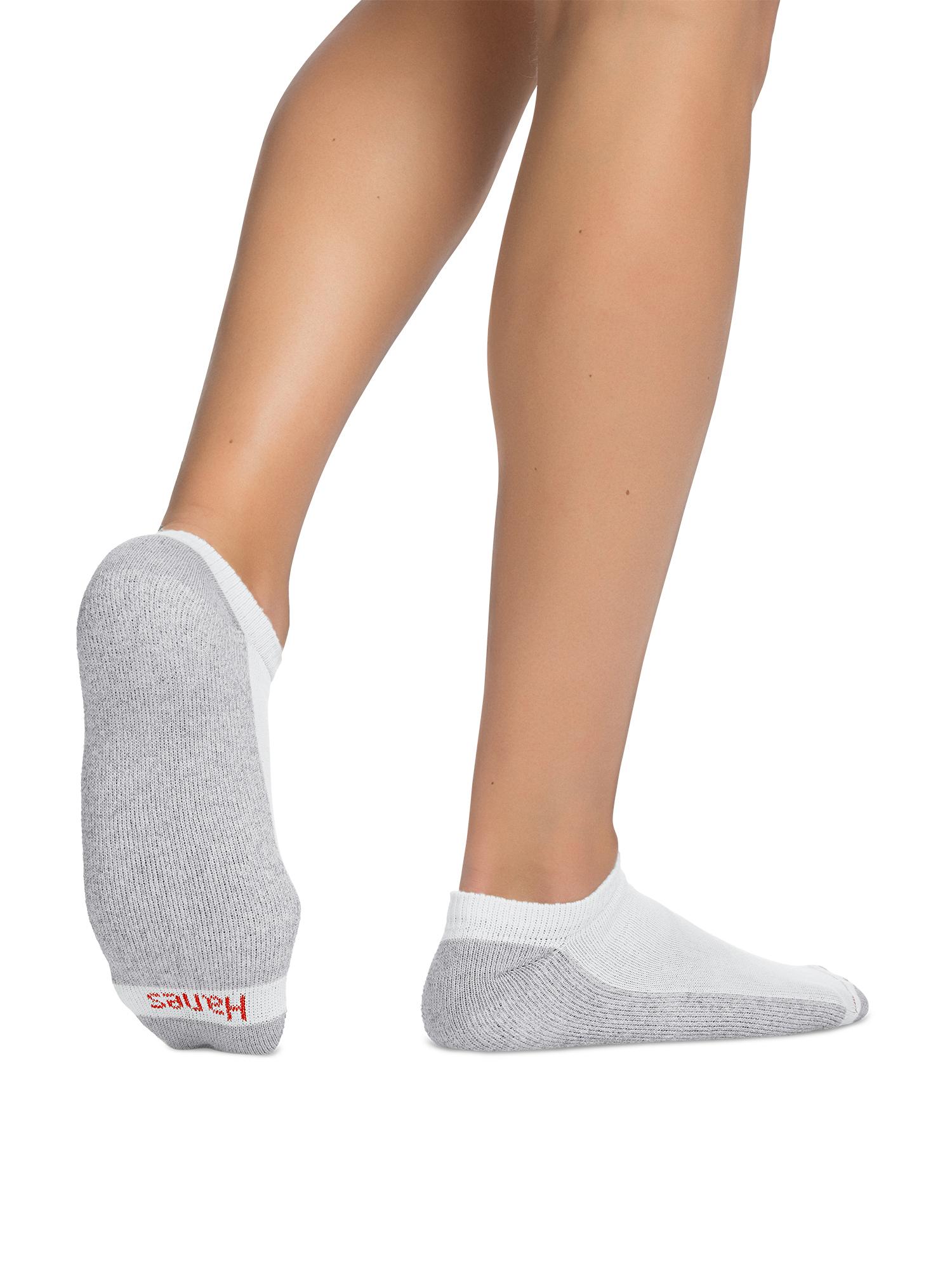 Hanes Men's Cushion FreshIQ No-Show Socks 12 + 1 Bonus Pack