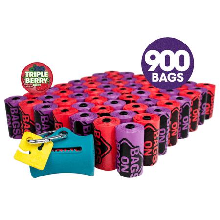 Bags on Board Odor Control Scented Dog Poop Bags | Ocean Breeze Scent | 900 Waste Pickup Bags