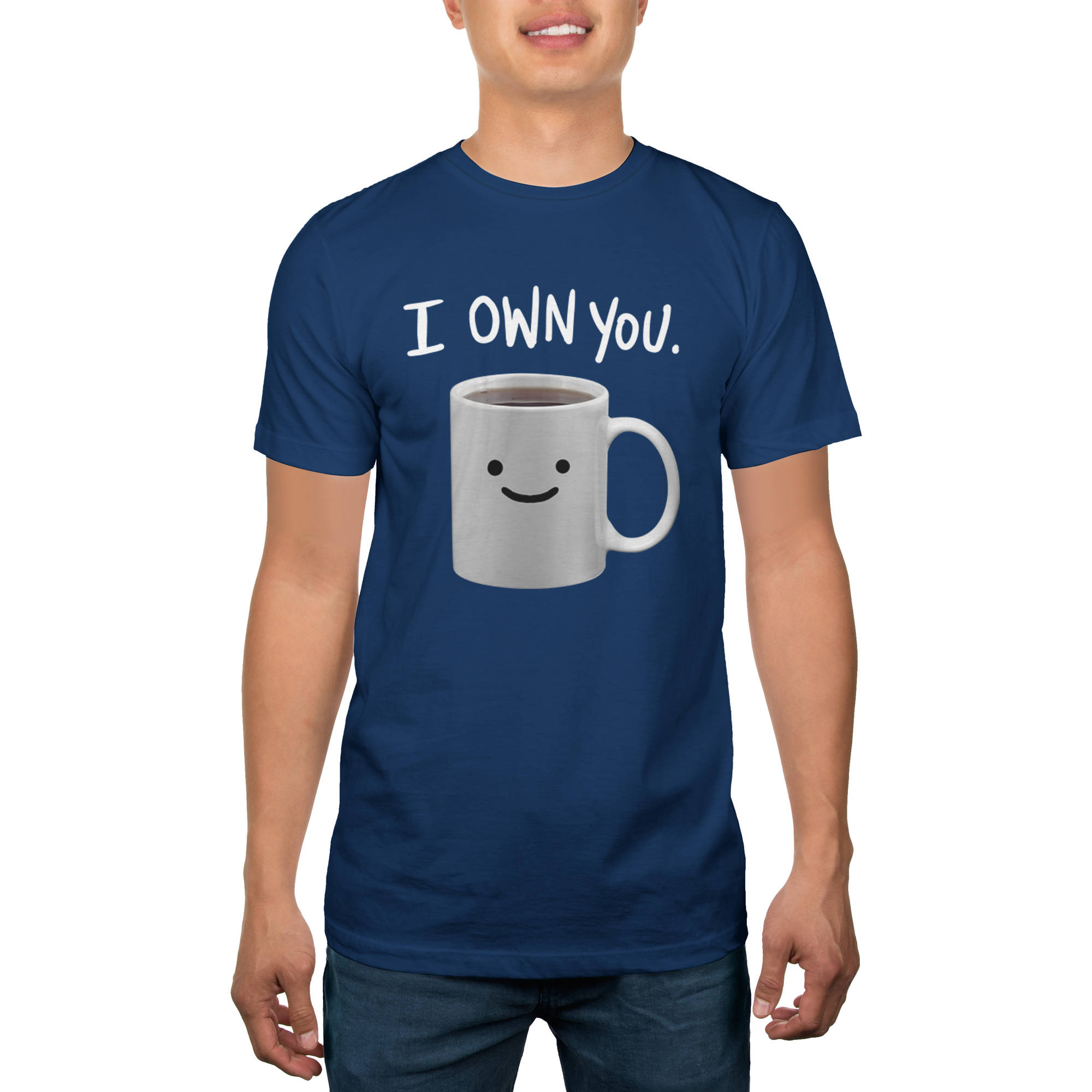 Coffee Owns You Big Men's Graphic Tee