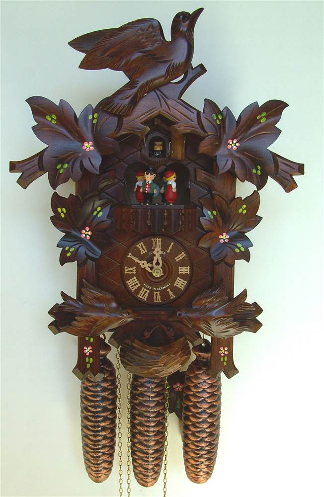 8-Day 16.5 in. Black Forest House Cuckoo Clock by Schneider Cuckoo Clocks