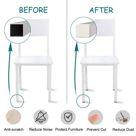 15 x 15mm Square Ribbed Tube Inserts Cap Furniture Legs Floor Protector 6pcs - image 3 de 7