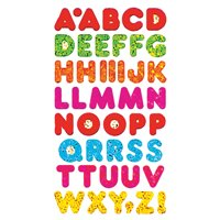 Bulk Roll Prismatic Stickers, Multi Alphabets (50 Repeats)