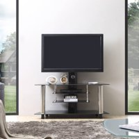 Hodedah Imports 47 in. TV Stand with Swiveling Mount