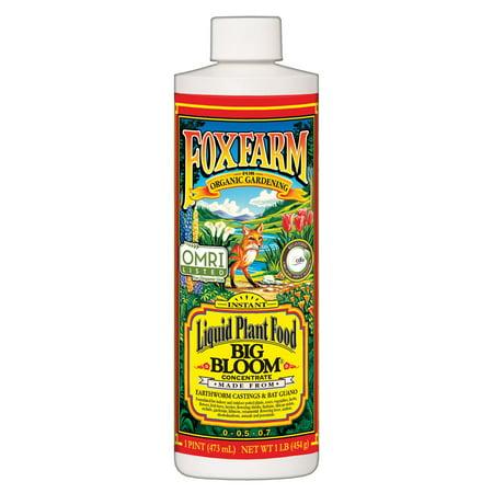 FoxFarm Big Bloom Liquid Concentrate Organic Plant Food, 1 Pint Bottle |