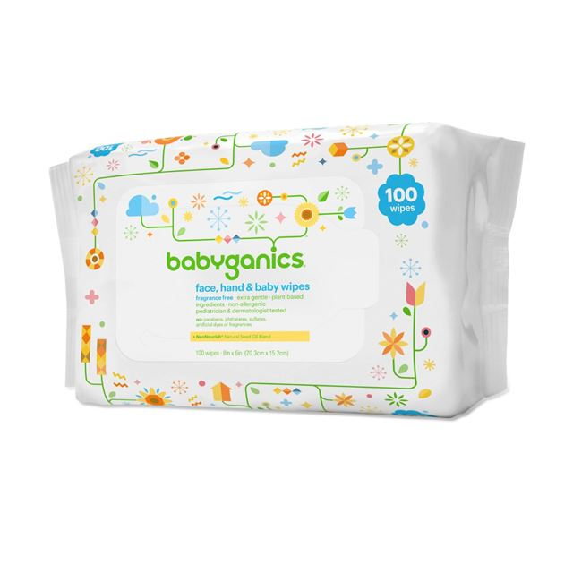 Babyganics Cream Infused Baby Wipes 100 Count by BabyGanics