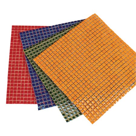 School Specialty Diamond Tech Ceramic Solid Square Mosaic Tile Color Sheet, 12 X 12 in, Orange, 625 Tiles/Sheet