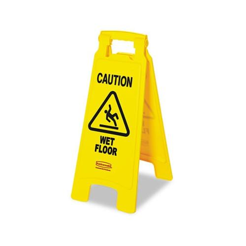 Rubbermaid caution Wet Floor Floor Sign, Plastic, 11 X 1-1/2 X 26, Bright Yel...