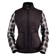 Outback Trading Vest Womens Quilted Zip Up Autumn Dark Raspberry 29595