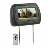 Absolute COM1210IRG 12-Inch TFT LCD Monitor Loaded in Grey Leather Headrest