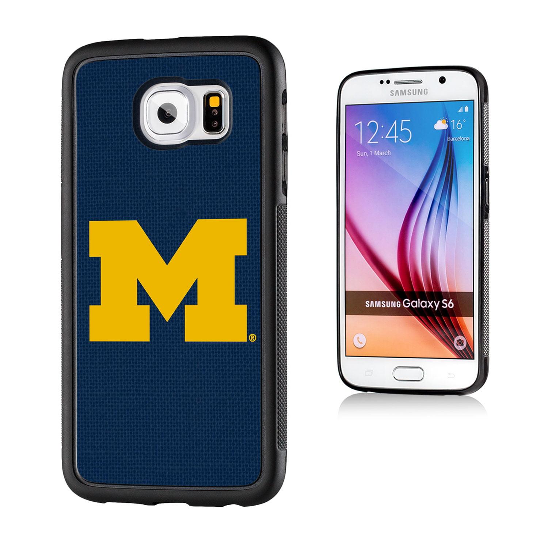 Michigan Wolverines Solid Galaxy S6 Bumper Case