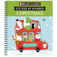Brain Games Sticker by Number Christmas [with Sticker(s] [with Sticker(s)] (Other)