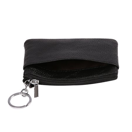 a2a7aeacb1b3d HDE Womens Leather Small Coin Purse Zipper Change Wallet Mini Pouch w Key  Ring ...