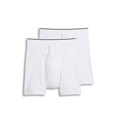 320b34d8ba2 Jockey NEW White Mens Size XL Classic Fit Stretch 2-Pack Pouch Boxer Brief  248