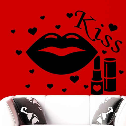 Decal House Lips Make Up Wall Decall