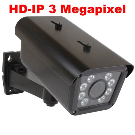 GW Security H.265 3MP HD 1536P Outdoor Day/Night Network PoE IP License Plate Camera with 9~22mm Motorized Zoom HD Lens, Support Alarm,TF Card, OSD, Onvif. Capture Vehicle Speed up to 90km/h