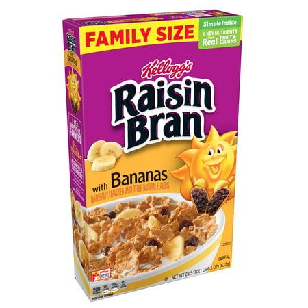 Total Raisin (Kellogg's Raisin Bran Banana Breakfast Cereal 22.5 Oz)