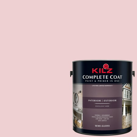 KILZ COMPLETE COAT Interior/Exterior Paint & Primer in One #LA230-01 Sweet (Best Paint For Nursery Walls)