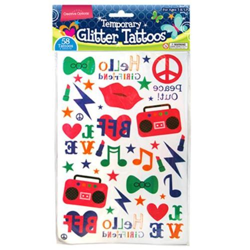 FLP 9911 Creative Options Temporary Glitter Tattoos - Pack Of 36