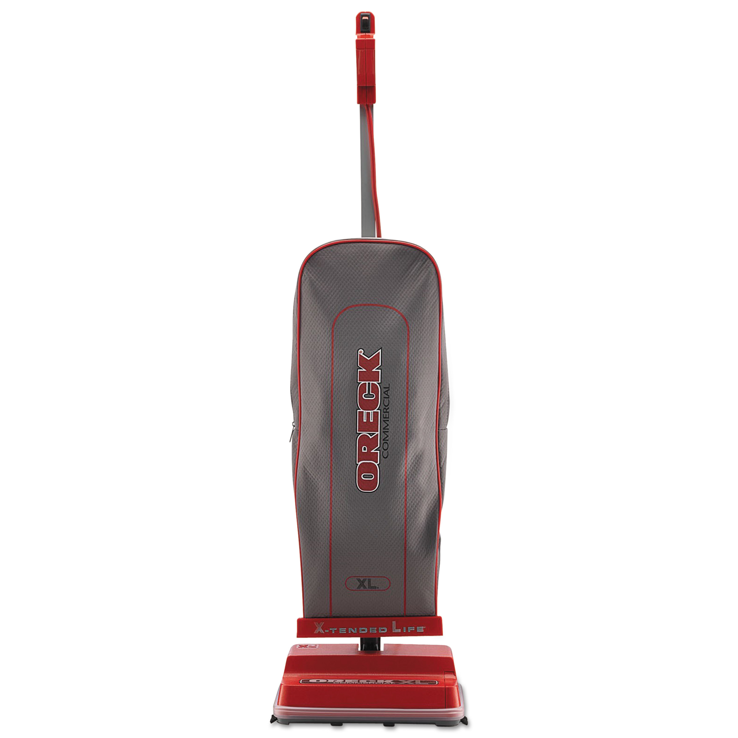 Oreck Commercial U2000RB-1 Commercial Upright Vacuum, 120 V, Red/Gray, 12 1/2 x 9 1/4 x 47 3/4