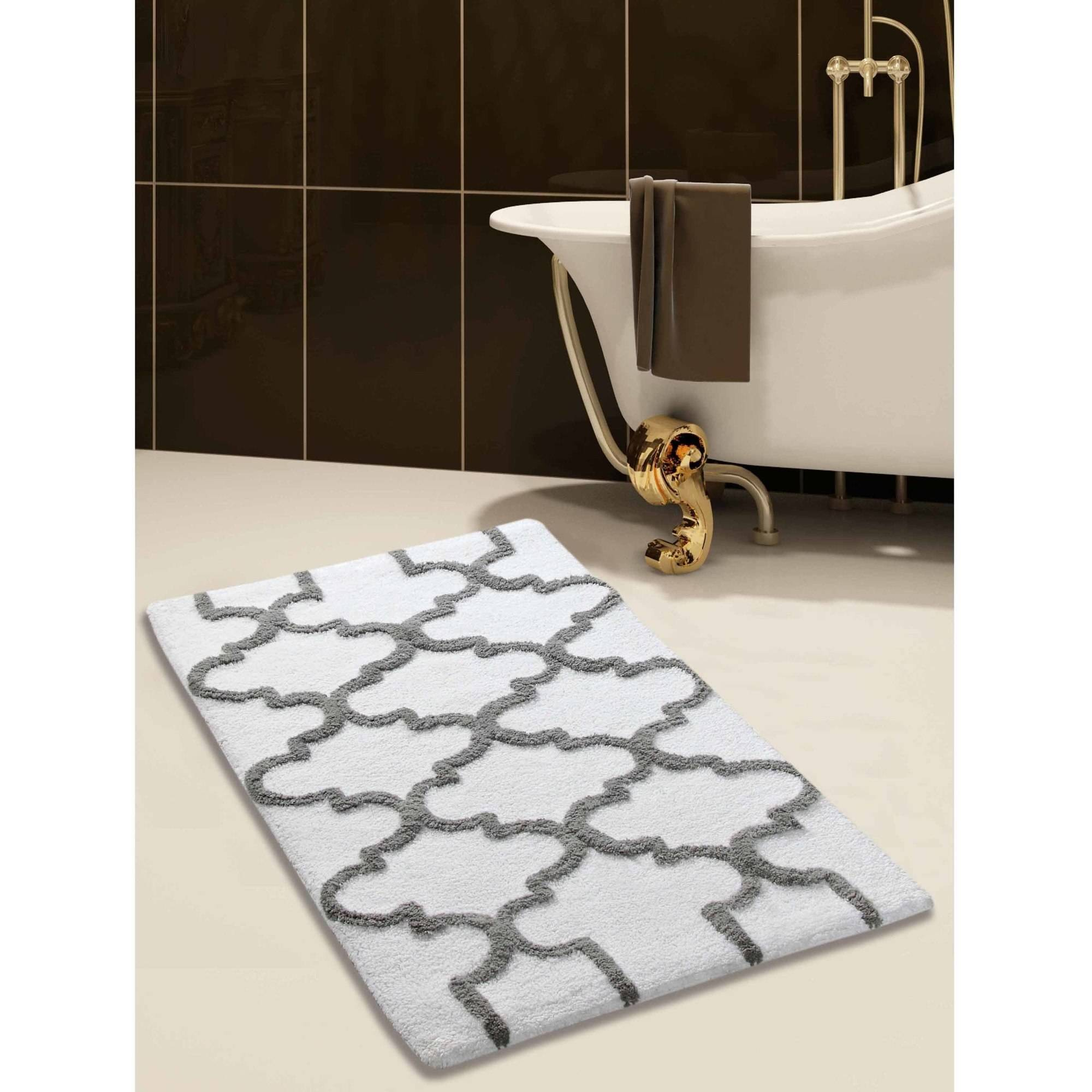 Saffron Fabs Bath Rug, Geomatric Pattern, Assorted Colors and Sizes