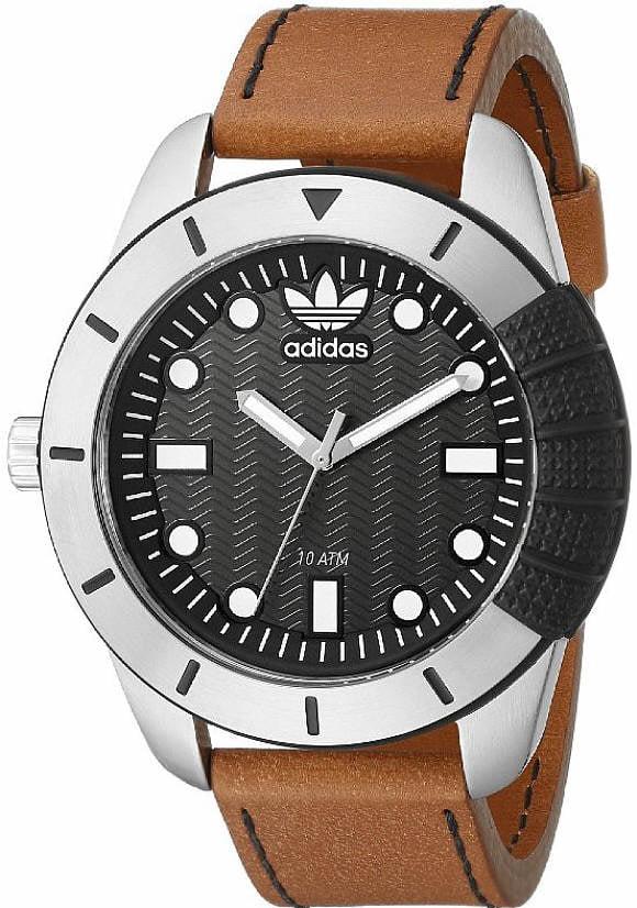 Unisex Adidas Originals ADH-1969 Brown Leather Watch ADH3038 by Adidas