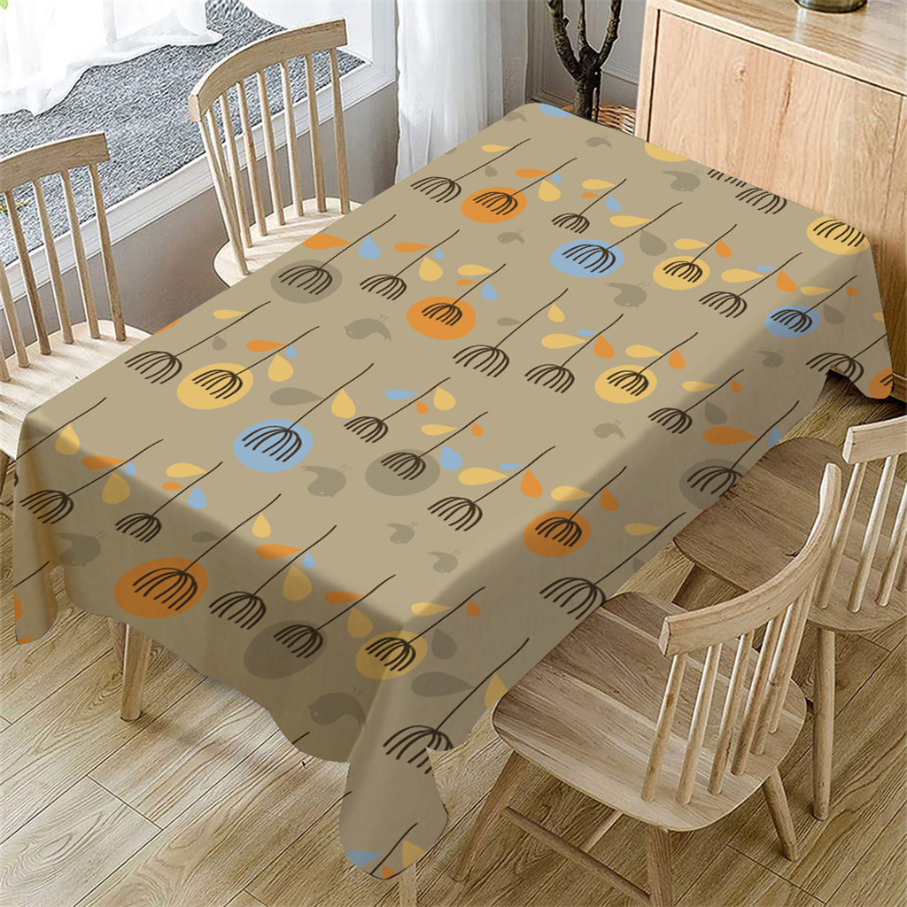 Cartoon Table Cloth Linen Tablecloth For Kitchen ...