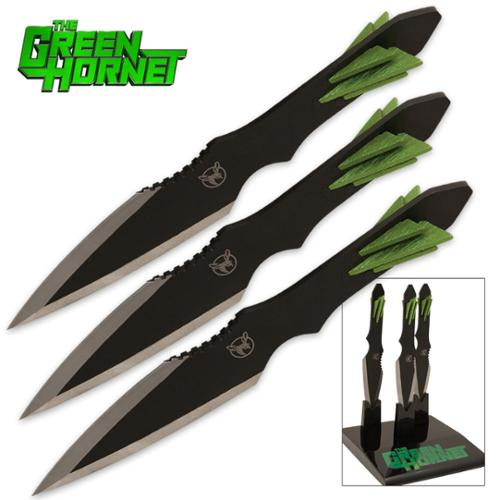 The Green Hornet Kato Throwing Knife Display Set