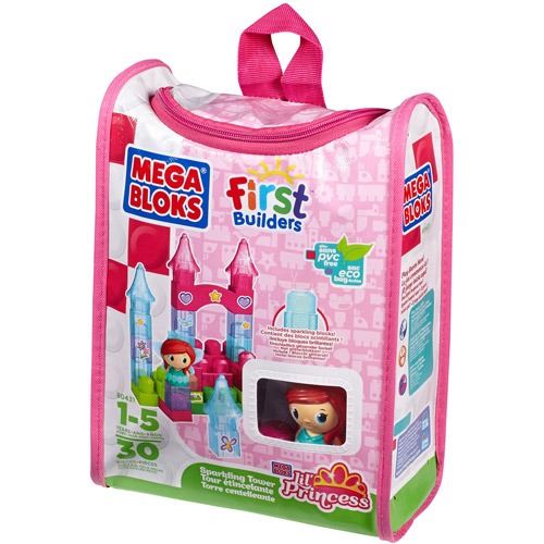 Mega Bloks Lil' Princess Sparkling Tower Building Set