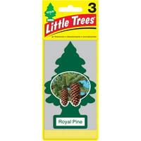 Little Treees Air Freshener Royal Pine Fragrance 3-Pack