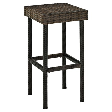 Crosley Palm Harbor Outdoor Wicker Bar Height Stool, Set of 2 ()