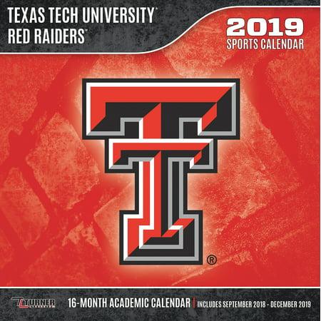 Texas Tech Calendar 2019 2019 12X12 TEAM WALL CALENDAR, TEXAS TECH RED RAIDERS   Walmart.com