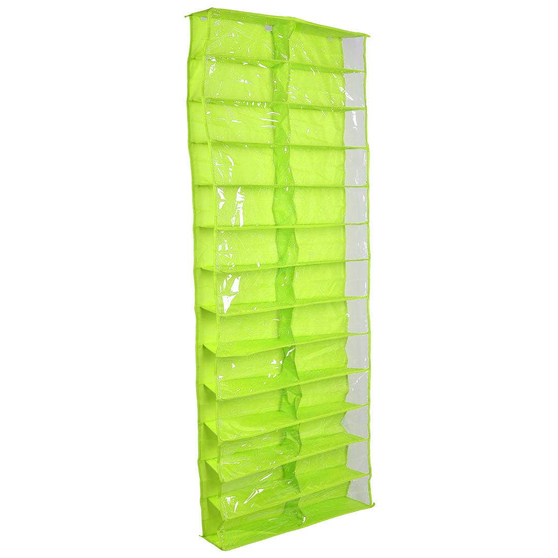 Unique Bargains Home PVC 26 Pockets Storage Bag Over the ...
