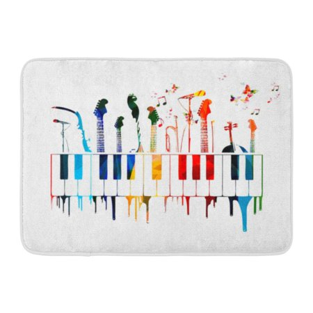 GODPOK Chord Creative Colorful Music Instruments with Butterflies Abstract Sound Rug Doormat Bath Mat 23.6x15.7 (Ships In The Night Mat Kearney Chords)
