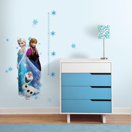 RoomMates Elsa, Anna and Olaf Frozen Peel and Stick Giant Growth Chart Girls Room decor