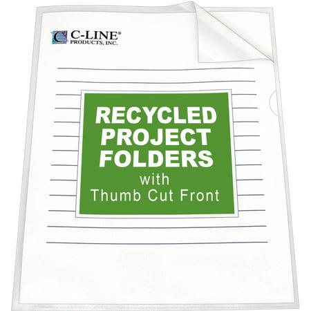 Project Folder Letter - C-Line Project Folders, Jacket, Letter, Poly, Clear, 25/Box