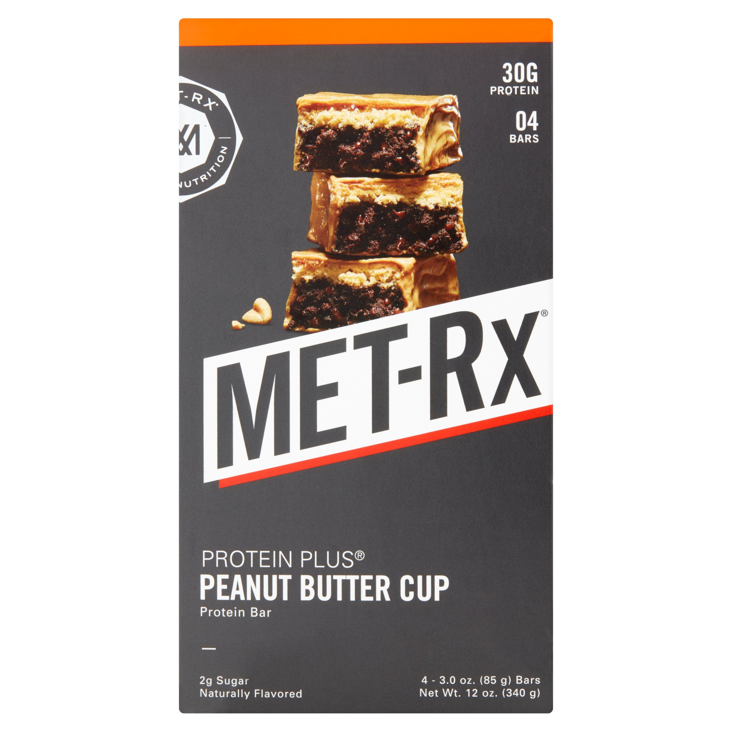 MET-Rx Protein Bar, Peanut Butter Cup, 30g Protein, 4 Ct