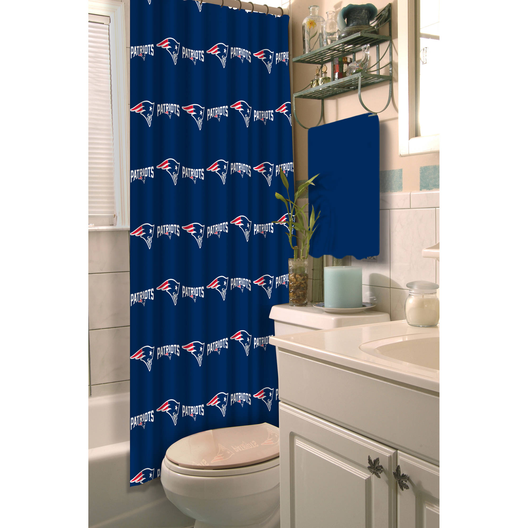 Bathroom sets walmart - Nfl New England Patriots Decorative Bath Collection Shower Curtain