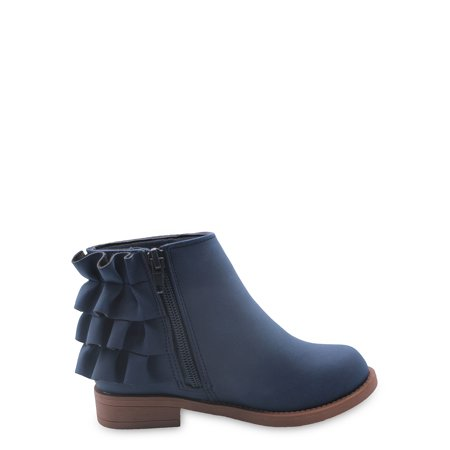Nicole Miller Ruffle Fashion Ankle Boots (Toddler Girls)