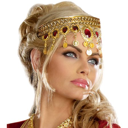 Diy Halloween Headpieces (Gold Dripping Rubies Headpiece Adult Halloween)