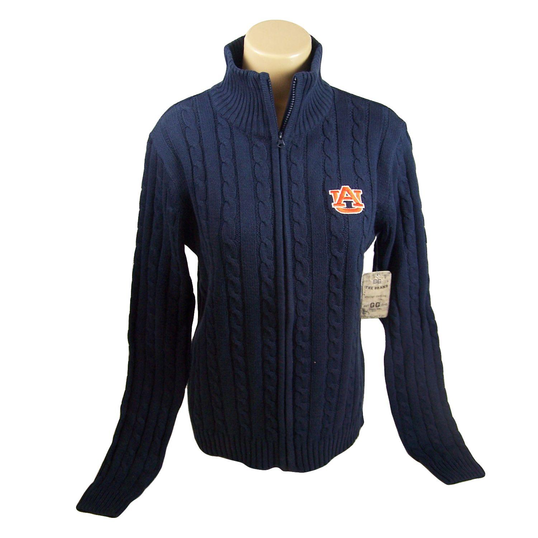 Auburn Tigers Official NCAA Blue Zip Up Sweater Graduate Sweater by Glitter Gear Shirt