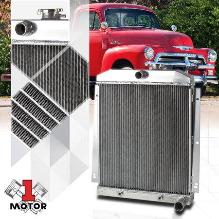 Aluminum 3 Row Core Performance Radiator for 47-54 Chevy Truck C/K Pickup 6Cyl 48 49 50 51 52 53