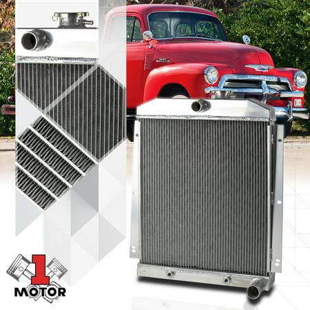 Chevrolet Truck Radiator (Aluminum 3 Row Core Performance Radiator for 47-54 Chevy Truck C/K Pickup 6Cyl 48 49 50 51 52 53)