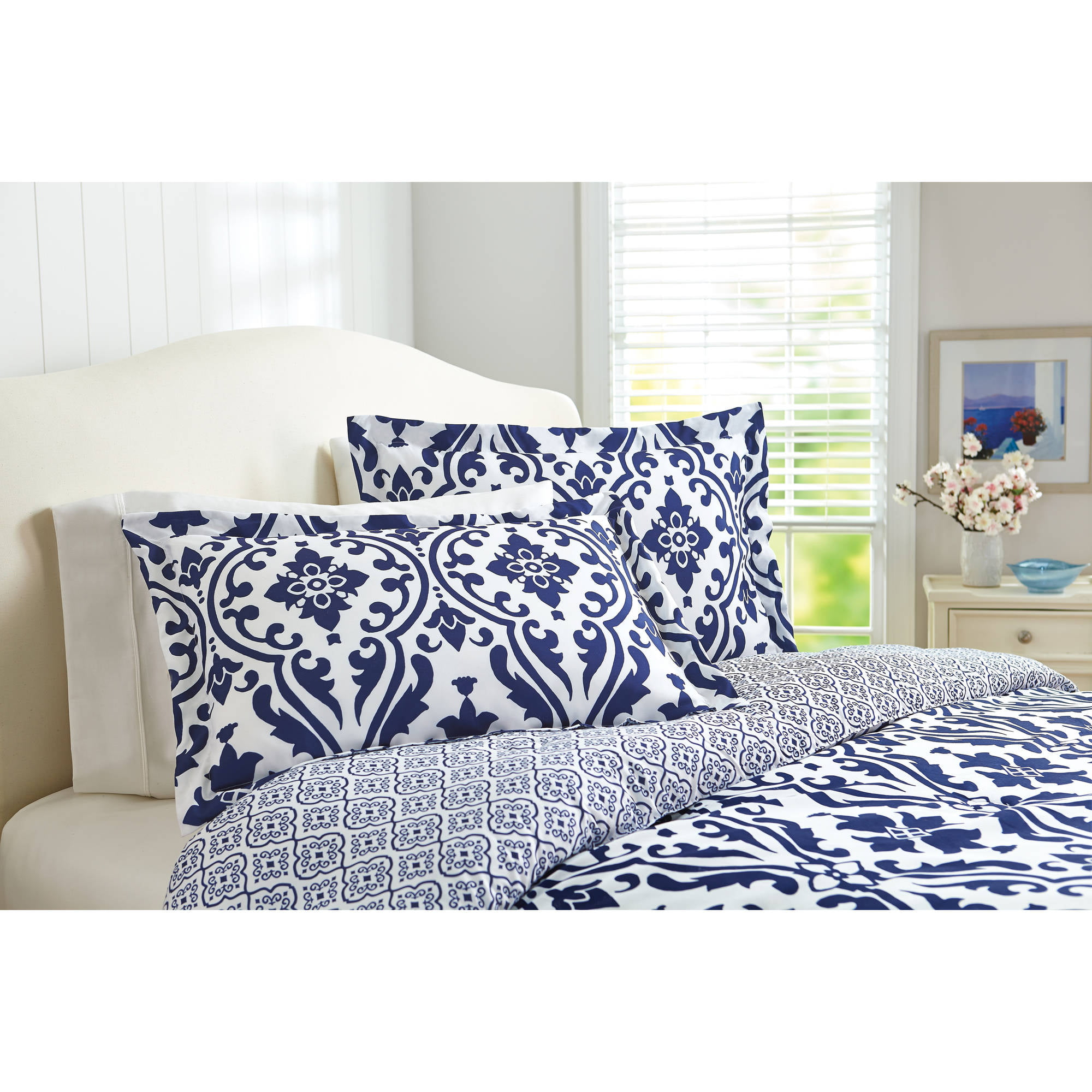 Better Homes And Gardens Indigo Scrollwork 5 Piece Bedding
