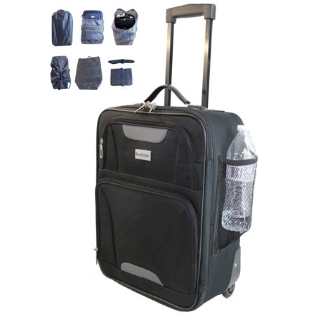 Boardingblue 18   Rolling Personal Item Luggage Under Seat For The Airlines Of American  Frontier  Spirit Black