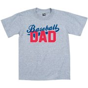 Baseball Dad Underlined Red Sports Team Father Bat Mens T Shirt Athletic Heather