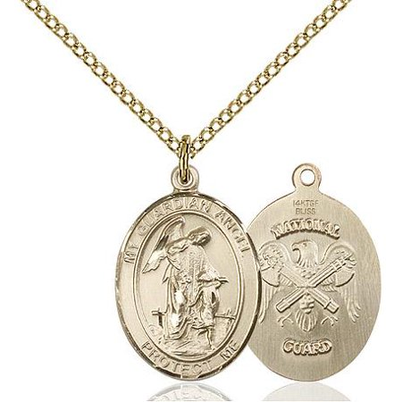 Guardian Angel / National Guard Military Medal in 14 KT Gold Filled