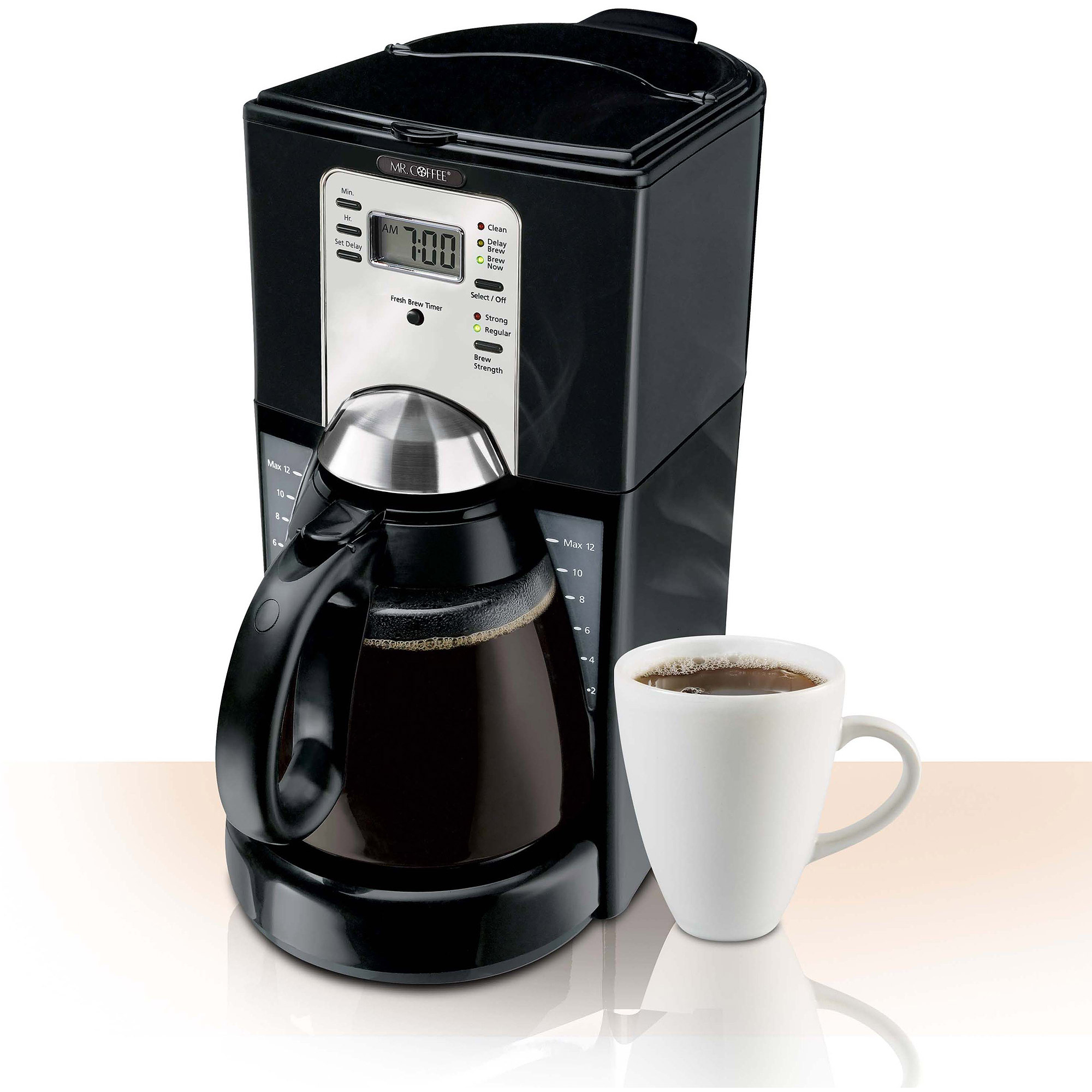 Called Bunn. This one IS made in the USA. We have used Bunns for years and have been extremely satisfied with all of them. We use Folgers Classic and Master Chef coffee from Walmart, which are pretty coarsely ground, probably.