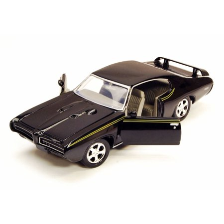 Pontiac Gto Part Car - 1969 Pontiac GTO Judge, Black - Motor Max 73242W - 1/24 Scale Diecast Model Toy Car