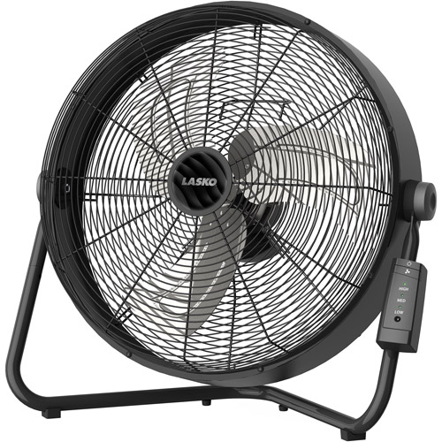 "Lasko Remote Control 20"" High Velocity Garage Fan with  Quickmount  H20685"